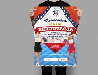Projekt graficzny plakatu informacyjnego